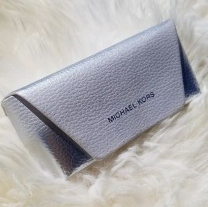 Michael Kors platinum & white sunglasses case